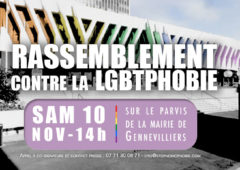 Sexisme et LGBTQI-phobies : Appel à mobilisation ce samedi 10 novembre sur le parvis de la mairie de Gennevilliers
