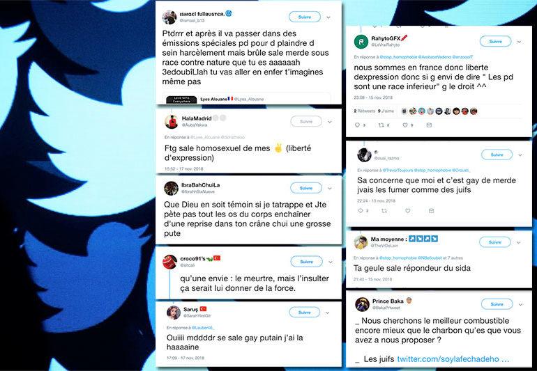 Injures, harcèlement, appels au meurtre et menaces de mort sur Twitter, sous couvert de la liberté d'expression