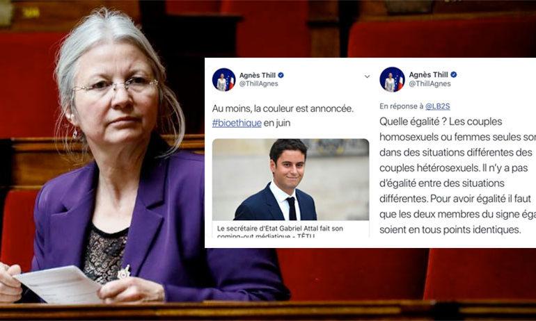 PMA : La députée Agnès Thill, prônant la discrimination, « en contradiction avec les valeurs d'inclusion » de LaREM