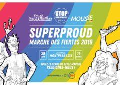 Marche des Fiertés LGBT+ Paris IDF : Char STOP homophobie, La Martine, Mousse