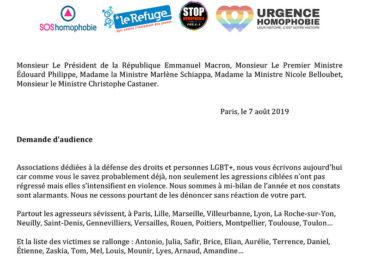 Lettre ouverte des associations LGBT+ au gouvernement