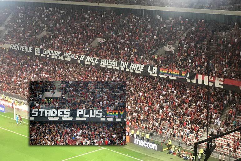 Football : plainte contre les auteurs des banderoles et chants homophobes qui ont provoqué l'interruption du match Nice-OM