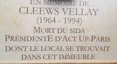 Inauguration de la promenade Cleews Vellay, Président d'Act Up-Paris