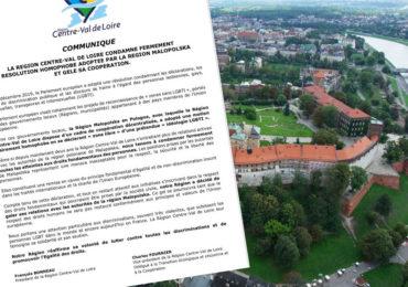 Zones anti-LGBTI : Le Centre-Val de Loire suspend sa coopération avec la Région polonaise de Malopolska
