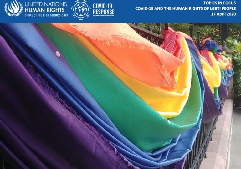 Covid-19 : l'ONU appelle les Etats à protéger les personnes LGBTI vulnérables pendant la pandémie