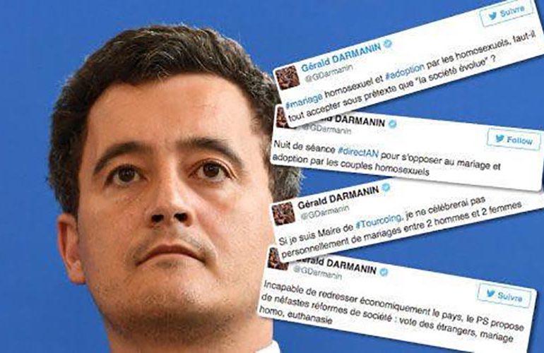 Fraîchement promu, Gérald Darmanin rattrapé par ses tweets homophobes
