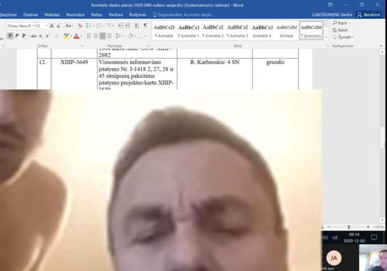 Un député lituanien notoirement homophobe surpris avec un homme à moitié nu sur Zoom (VIDEO)
