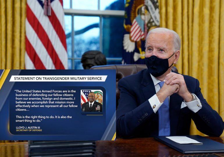 Joe Biden annule l'interdiction de Trump faite aux personnes transgenres de servir dans l'armée