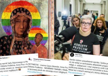 Pologne : trois militantes LGBT+ acquittées après avoir auréolé la Vierge Marie d'un arc-en-ciel