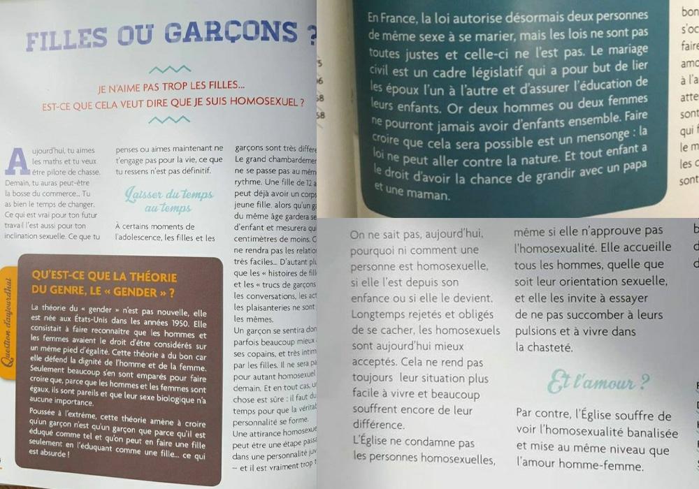 Homophobie et prosélytisme religieux dans les lycées : Demande de retrait du livre « Questions de vie »