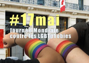 Happening devant l'ambassade du Canada ce 17 mai 2021