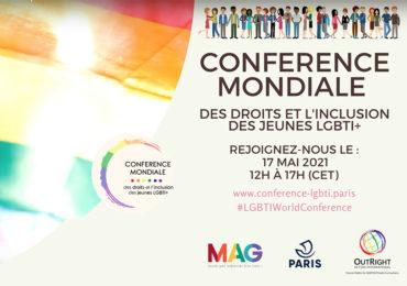 LGBTIWorldConference : Conférence internationale pour les droits et l'inclusion des jeunes LGBTI+