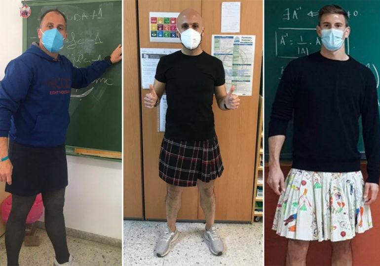 En Espagne, des professeurs adoptent la jupe, en soutien à un élève renvoyé pour en avoir porté une en classe